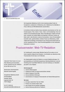 Praxissemester Web-TV-Redaktion
