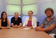 Heidrun Lieb mit ihren Gästen der TV-Sendung Alpha & Omega - Wohnungslos