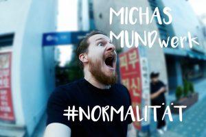 Bild zeigt Micha Kunze während er schreit. Neue Folge: Normalität